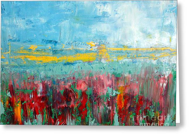 Red Photographs Paintings Greeting Cards - Fire weed Greeting Card by Julie Lueders