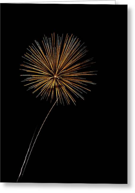 Fire Works Bursts Greeting Card by Gary Langley