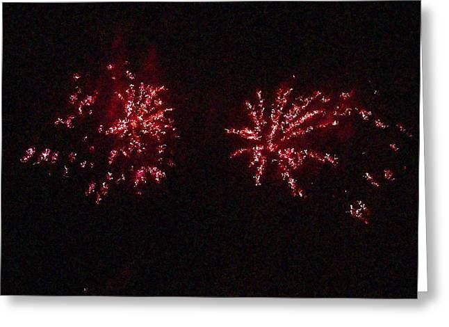 Fire Works Show Stippled Paint 6 Canada Greeting Card by Dawn Hay