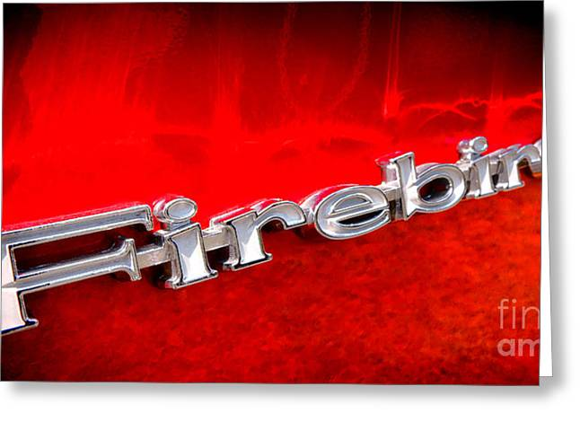 Car Insignia Greeting Cards - Firebird Greeting Card by Olivier Le Queinec
