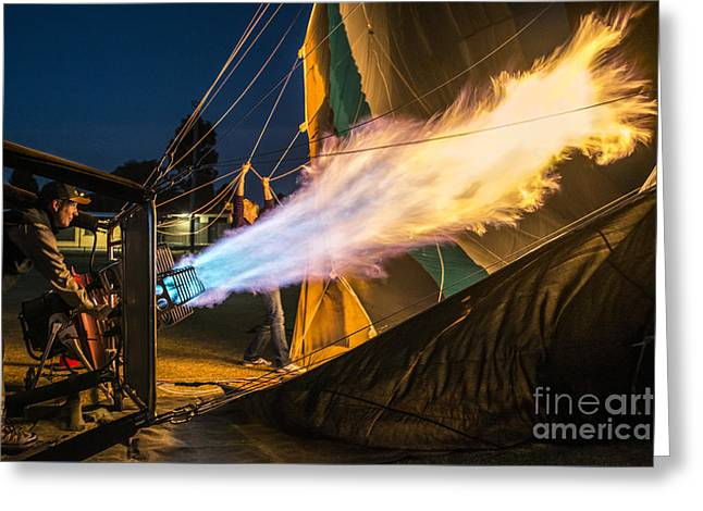 Burner Greeting Cards - Fired Up Greeting Card by Ray Warren