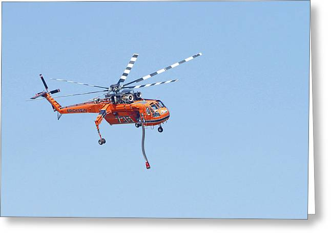 Firefighters In Flight Greeting Card by Shoal Hollingsworth