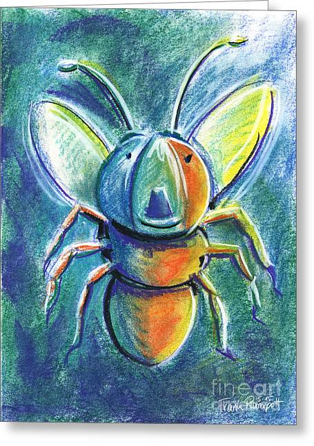 Antenna Pastels Greeting Cards - Firefly For Children Pastel Chalk Drawing Greeting Card by Frank Ramspott