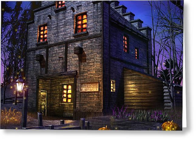 Firefly Inn Greeting Card by Joel Payne