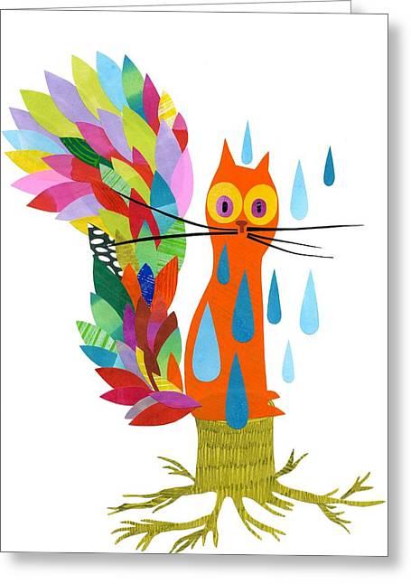 Firefox Greeting Card by Anne Vasko