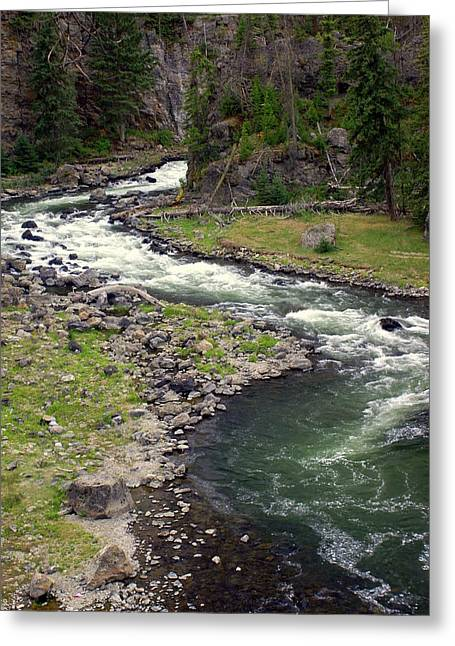 Firehole River 2 Greeting Card by Marty Koch