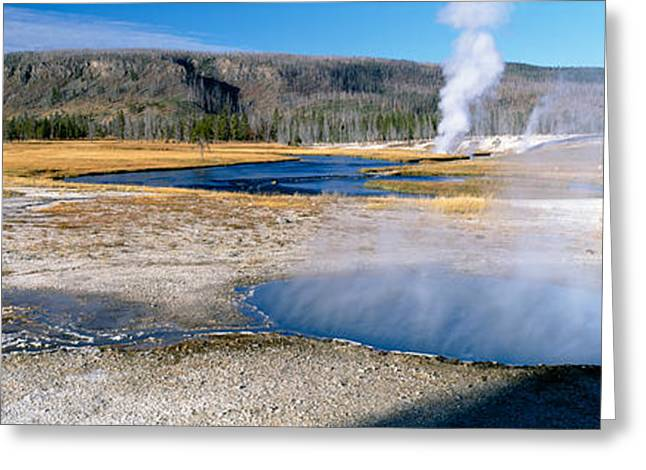 Firehole River In Yellowstone National Greeting Card by Panoramic Images