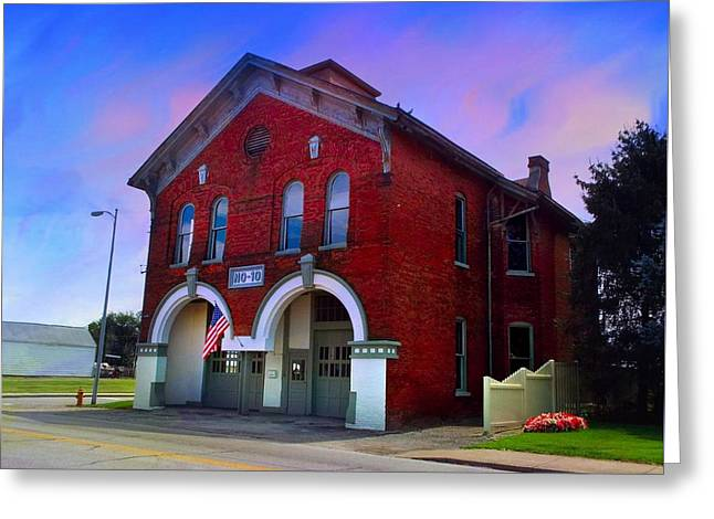 Firehouse No 10 Greeting Card by Julie Dant