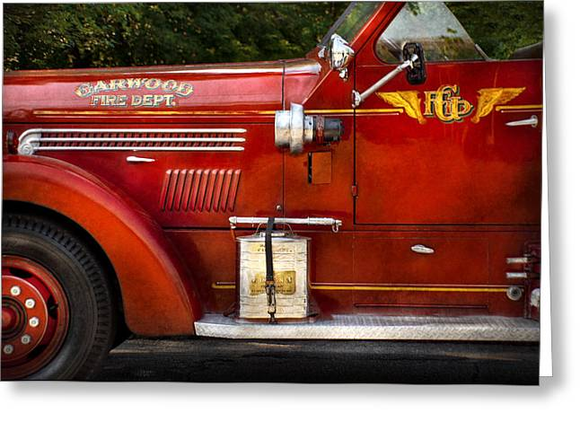 Brigade Greeting Cards - Fireman - Garwood Fire Dept Greeting Card by Mike Savad