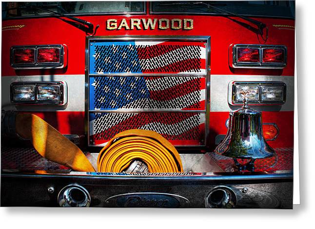 Customizable Greeting Cards - Fireman - Ill put your fire out Greeting Card by Mike Savad