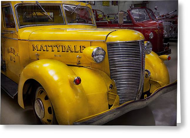 Brigade Greeting Cards - Fireman - Mattydale  Greeting Card by Mike Savad