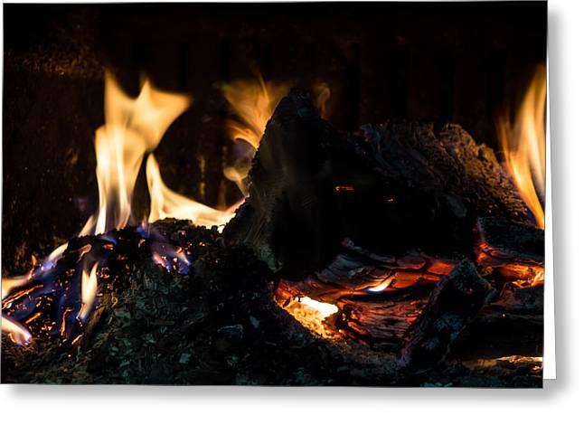 Brigade Greeting Cards - Fireplace Greeting Card by Dimitar Naydenov