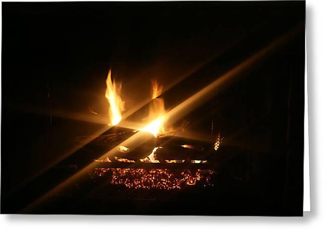 Fireplace Greeting Card by Ellen Henneke