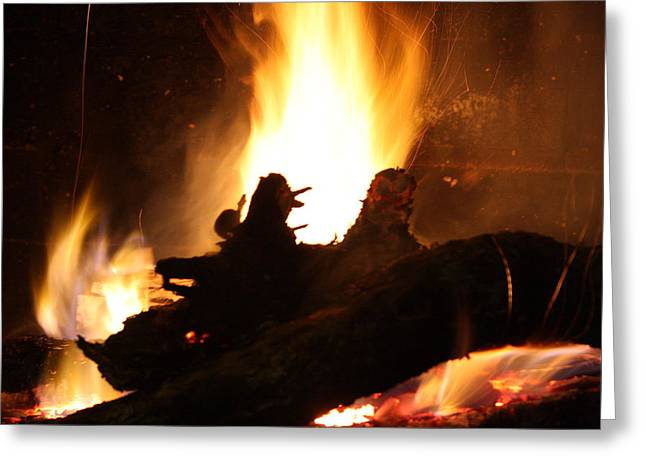 Fireplace II Greeting Card by Ginger Barritt