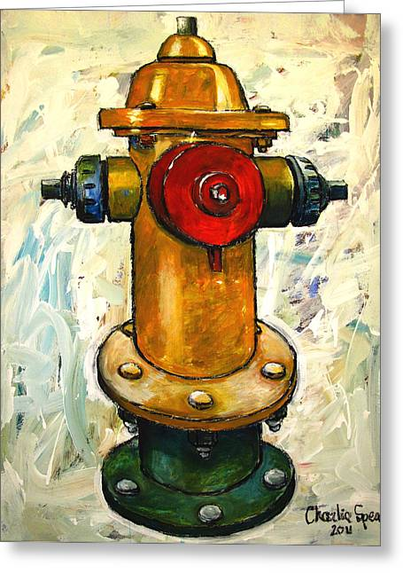 Pull Greeting Cards - Fireplug Ii Greeting Card by Charlie Spear
