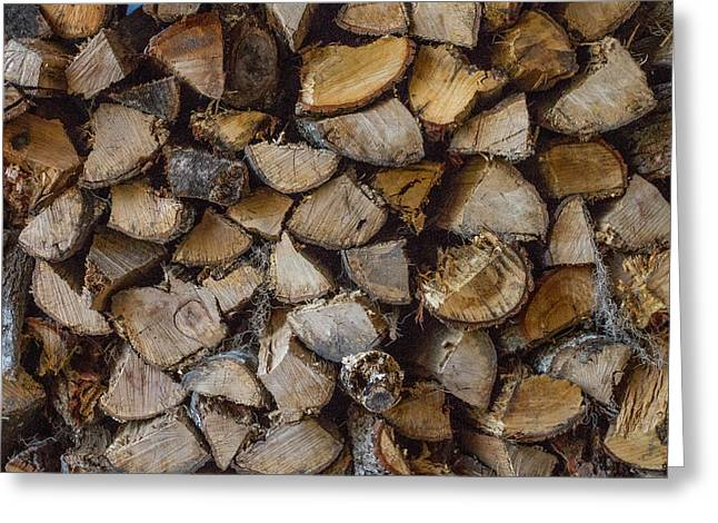 Mccoy Greeting Cards - Firewood Greeting Card by A Different Brian Photography