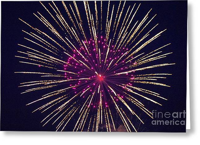 Pyrotechnics Greeting Cards - Firework 4 Greeting Card by Howard Tenke