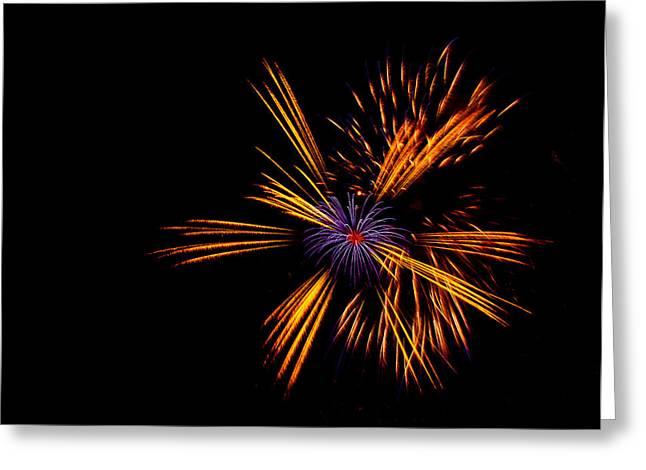 Celebration Art Print Greeting Cards - Firework Fun Greeting Card by Dawn OConnor