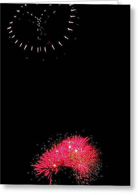 Pyrotechnics Greeting Cards - Firework Peace  Greeting Card by Adrienne Wilson