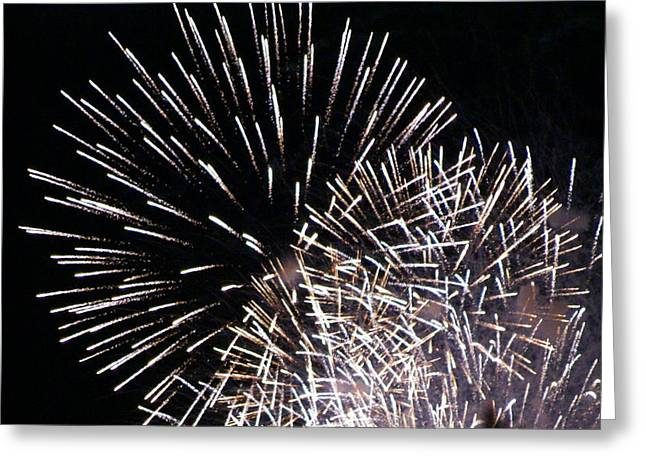 Firework Within Fireworks Greeting Card by Jacqueline Russell