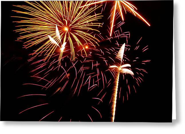 Fireworks 1 Greeting Card by Michael Peychich