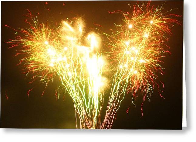 Bonfire Night Greeting Cards - Fireworks 2 Greeting Card by Oliver Johnston