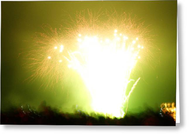 Burst Greeting Cards - Fireworks 3 Greeting Card by Oliver Johnston
