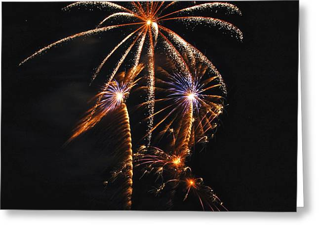 Fireworks 5 Greeting Card by Michael Peychich