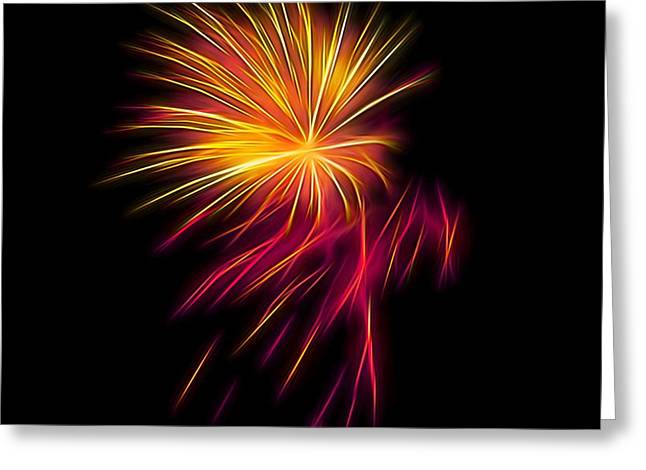 4th July Greeting Cards - Fireworks Abstract Nbr 1 Greeting Card by Scott Cameron