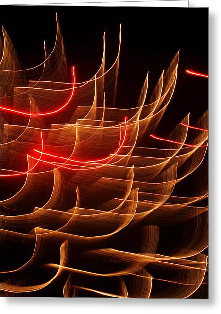 Hilliard Greeting Cards - Fireworks Abstraction 3 Greeting Card by Beth Akerman