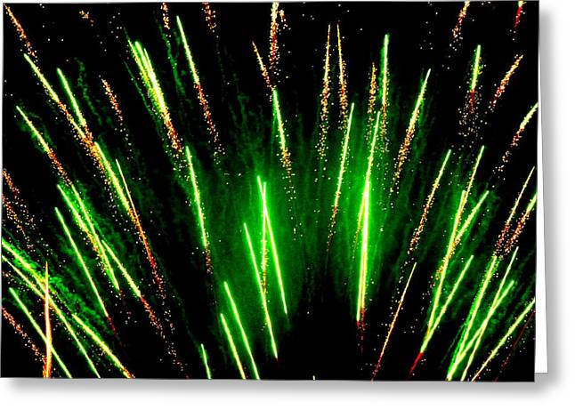 Hilliard Greeting Cards - Fireworks Abstraction 5 Greeting Card by Beth Akerman