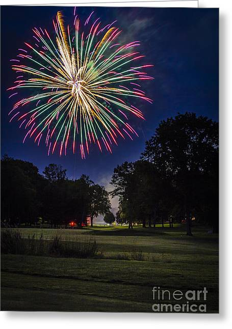 4th July Greeting Cards - Fireworks Beauty Greeting Card by Joann Long