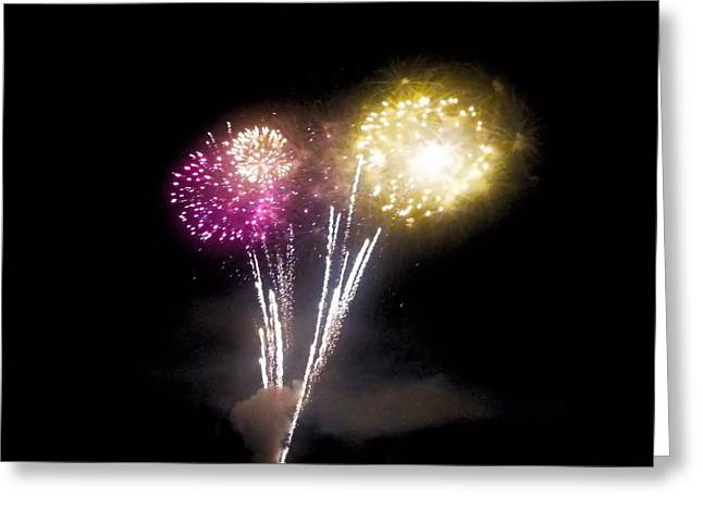 4th July Greeting Cards - Fireworks Display Greeting Card by Shelly Dixon
