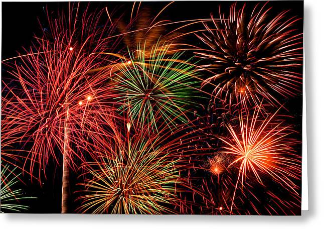 Fireworks Greeting Card by Erik Watts