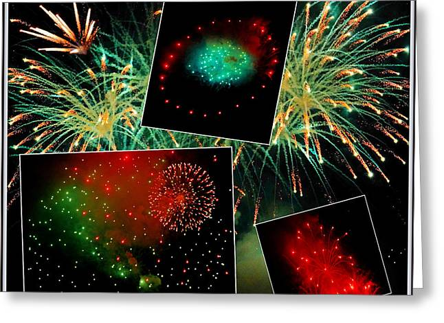 Pyrotechnics Greeting Cards - Fireworks For Home Decor Greeting Card by Constance Lowery