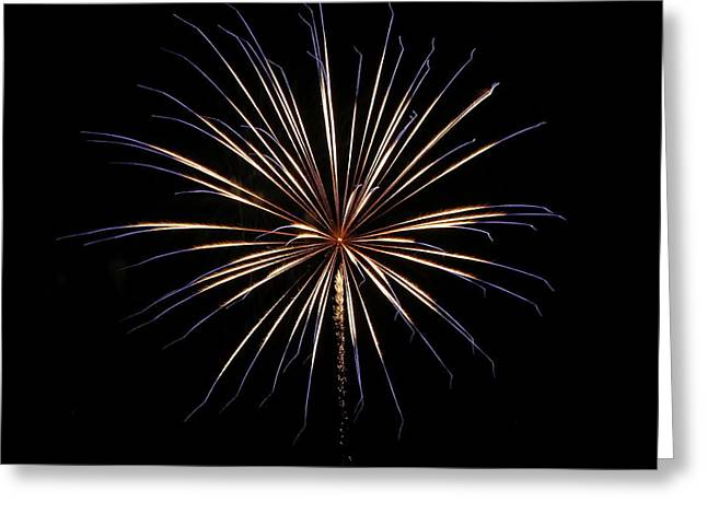 Bottle Rockets Greeting Cards - Fireworks from a Boat - 1 Greeting Card by Jeffrey Peterson