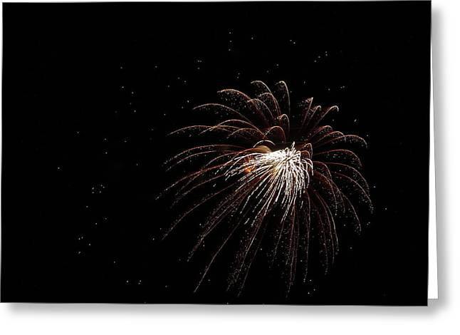 Bottle Rockets Greeting Cards - Fireworks from a Boat - 3 Greeting Card by Jeffrey Peterson