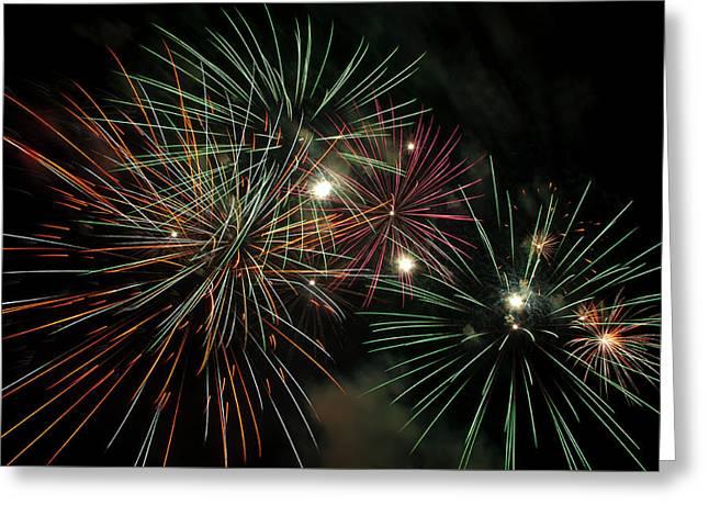 Fireworks Greeting Card by Glenn Gordon
