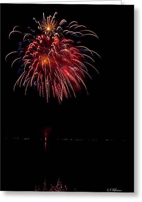 4th July Photographs Greeting Cards - Fireworks II Greeting Card by Christopher Holmes
