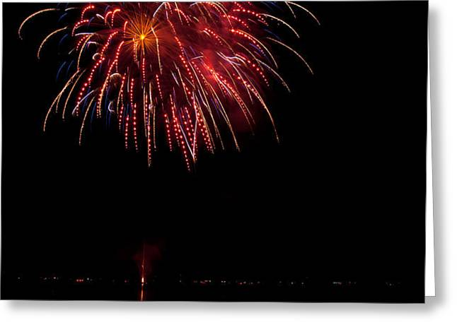 Fireworks II Greeting Card by Christopher Holmes