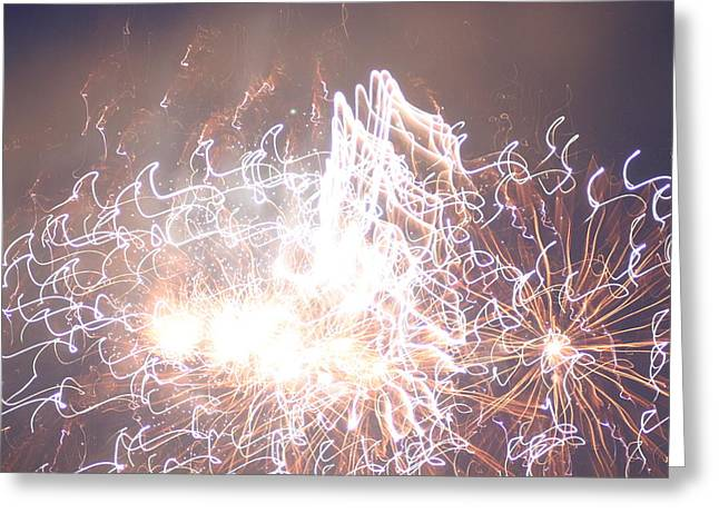 Fireworks In The Park 6 Greeting Card by Gary Baird