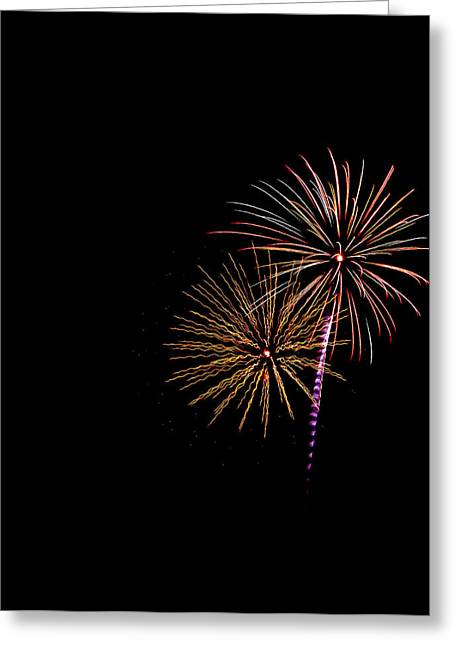 4th July Greeting Cards - Fireworks Greeting Card by Jason Blalock