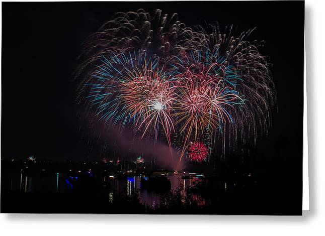 Pyrotechnics Greeting Cards - Fireworks Greeting Card by Lisa Fitzthum