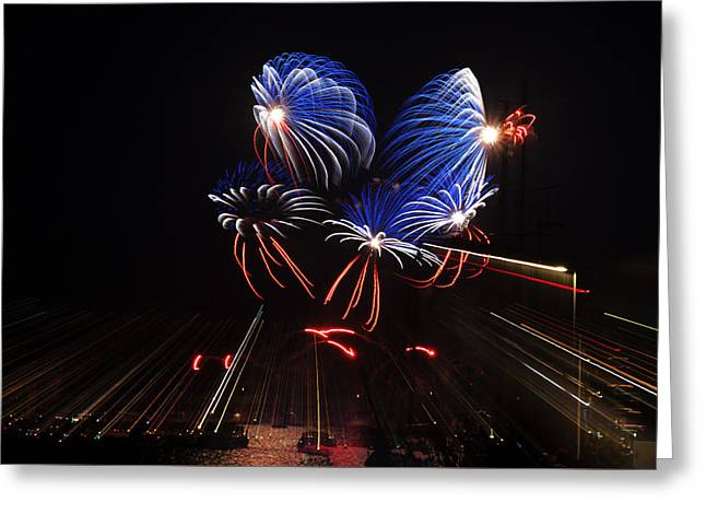 4th July Greeting Cards - Fireworks Greeting Card by Mike Santis