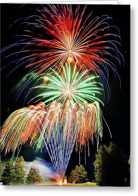 Fireworks No.1 Greeting Card by Niels Nielsen