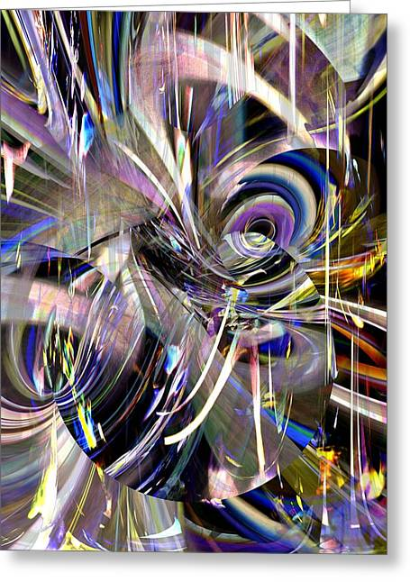 Abstract Expressionist Greeting Cards - Fireworks of the Mind Greeting Card by Richard Thomas