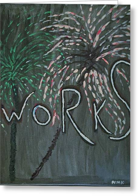 Fireworks Set- Part 2 Greeting Card by Nannette Kelly