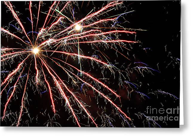 Pyrotechnics Greeting Cards - Fireworks Spectacular Greeting Card by Terry Weaver