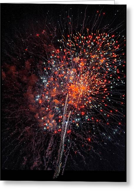 Oranger Greeting Cards - Fireworks Greeting Card by Steven Maxx
