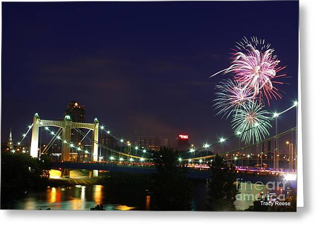 Fireworks Greeting Card by Tracy Reese